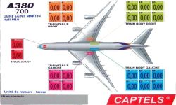 Ecran gant d'affichage des donnes de pese pour les avions AIRBUS 380, AIRBUS 340 et AIRBUS A330